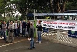 Fetquim participa de mobilização nacional contra terceirização
